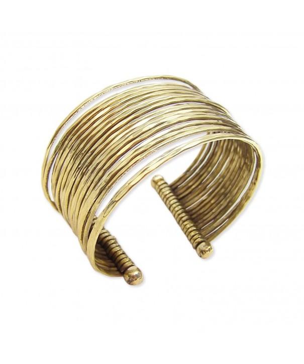 Hammered Bunch Gold Fashion Bracelet