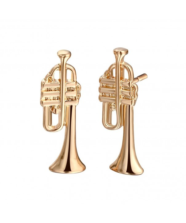Classic European Fashion Earrings Trumpet