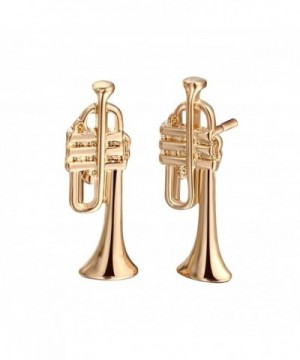Classic European Fashion Earrings Trumpet