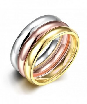 JAJAFOOK Womens Stackable Tri Colors Stainless
