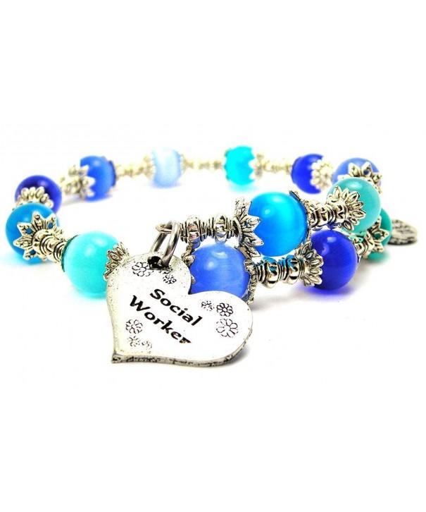Social Worker Charm Bracelet Sapphire