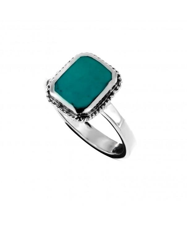 Oxidized Sterling Turquoise Gemstone Statement