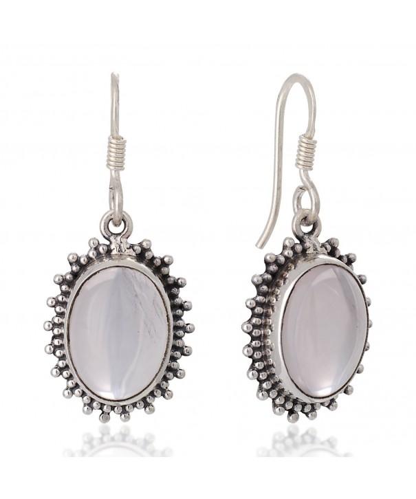 Sterling Moonstone Gemstone Vintage Earrings