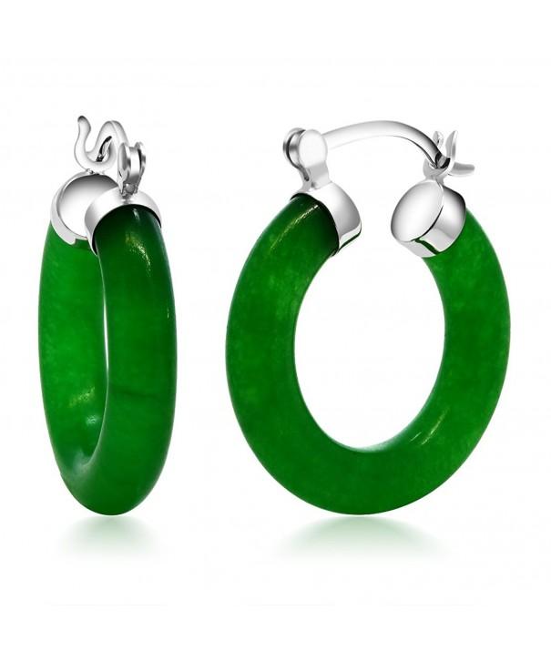Vibrant Green Sterling Silver Earrings