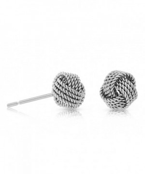 Sterling Silver Twisted Knot Earring