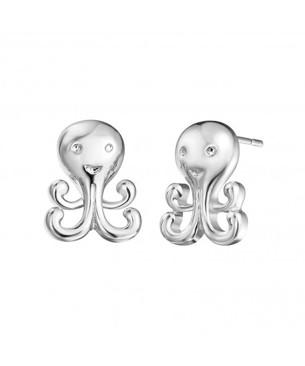 Octopus Earrings Jewelry Piercing Friends