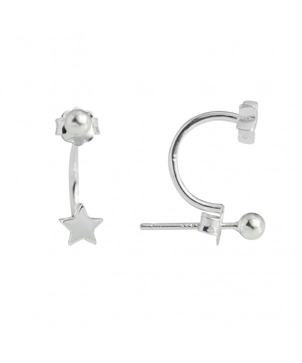 Wicary Sterling Silver Barbell Earring