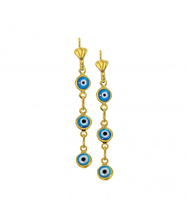 Yellow Plated Dangling Charm Earrings
