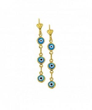 Yellow Plated Dangling Charm Earrings