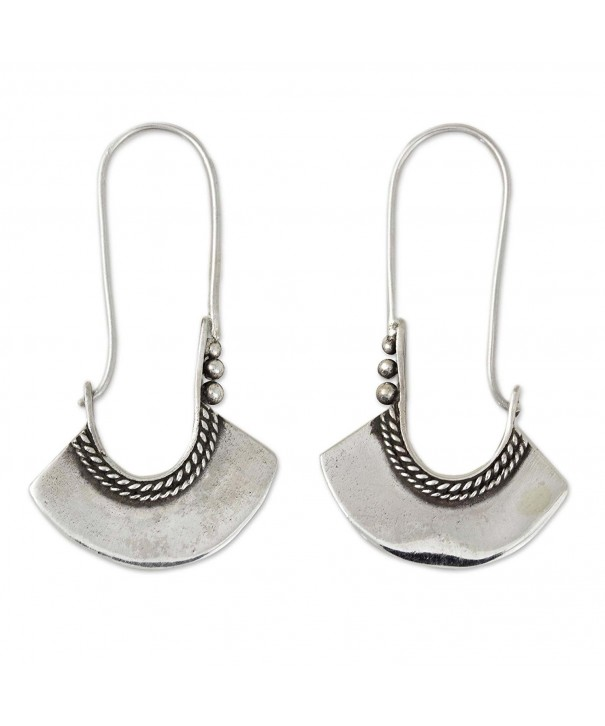 NOVICA Sterling Silver Earrings Backfinding