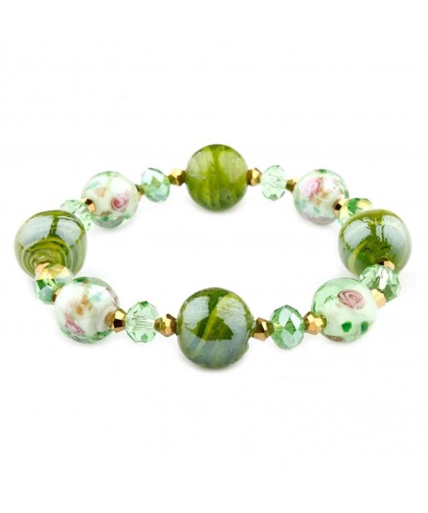 Francesca Collection Green Murano Bracelet