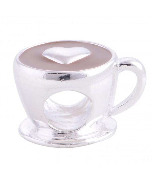 Kiss Coffee Sterling European Bracelet
