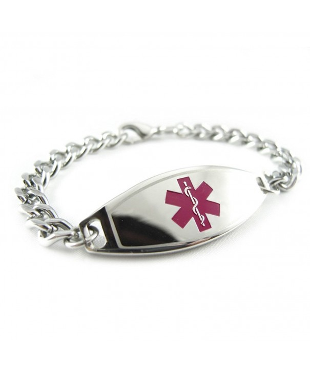 MyIDDr Pre Engraved Customized Thinners Bracelet