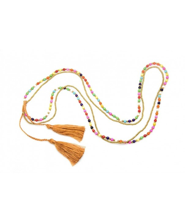 Colorful Necklace Bracelet Strings Statement