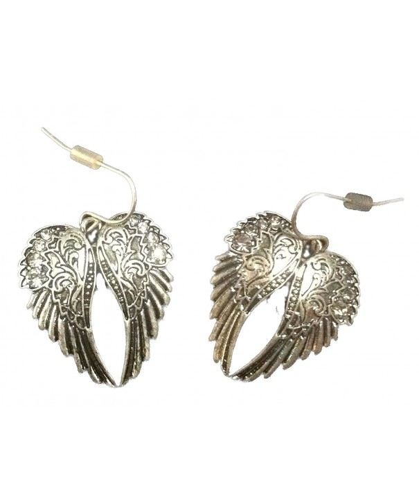Burnished Silver Rhodium Feather Earrings