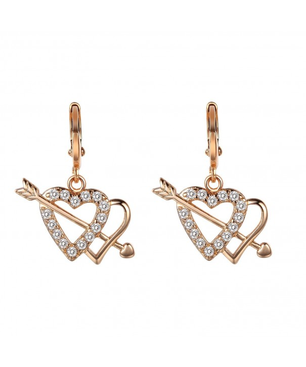 Romantic Time Plated Diamond Earrings