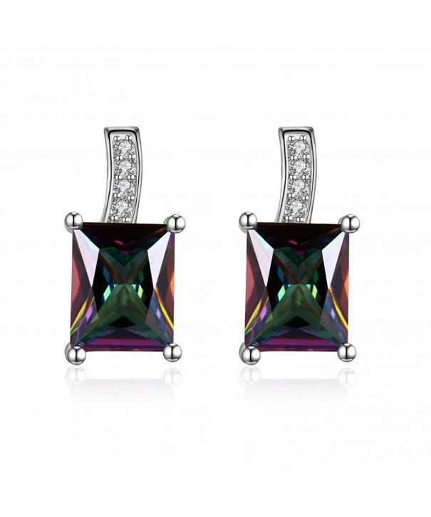 Multicolor Zirconia Earrings Fashion DreamSter