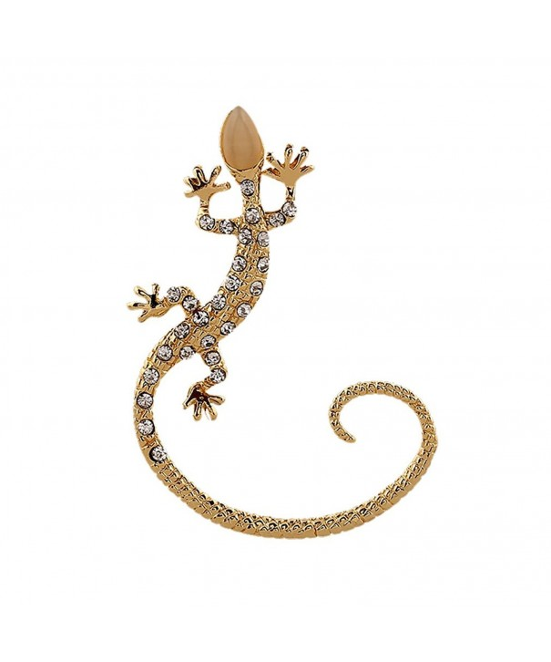 Qtalkie Crystal Earrings Clips Gecko