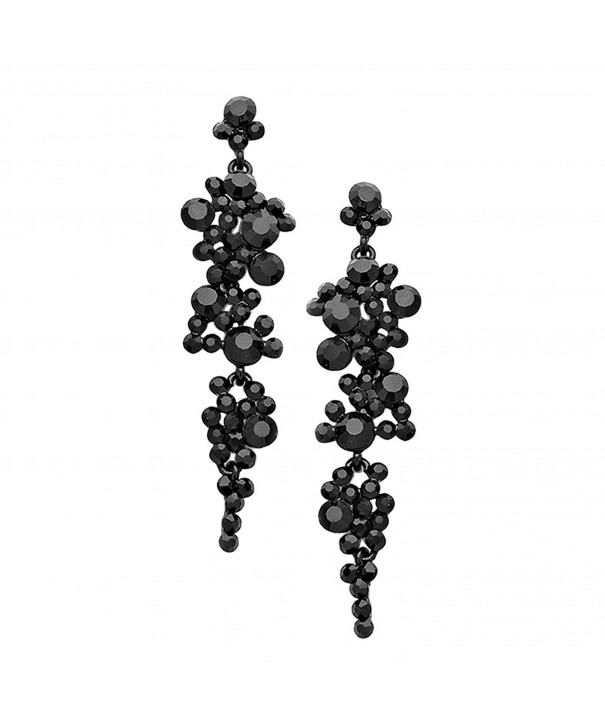 Rosemarie Collections Rhinestone Statement Earrings