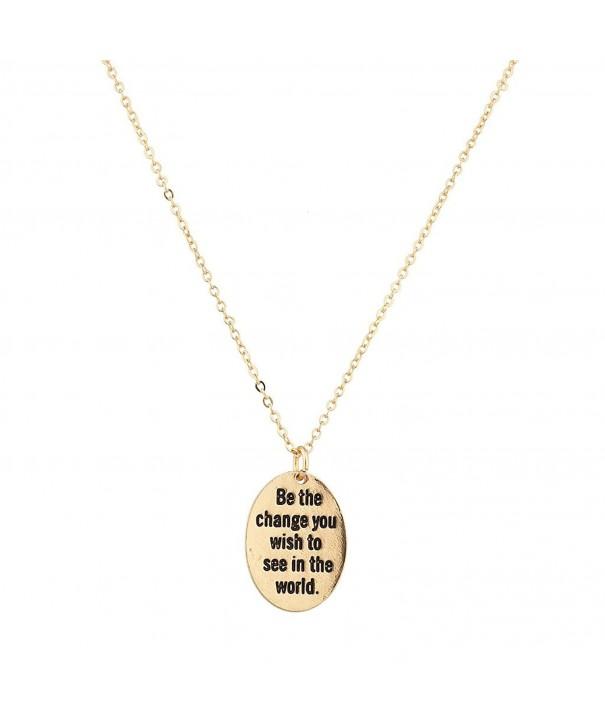 Lux Accessories Change Pendant Necklace