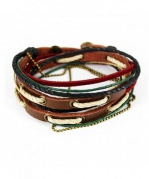 Simple Fashion Braided Three tone Bracelet