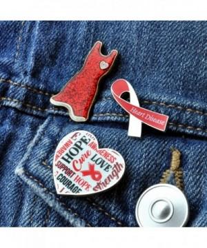 PinMart Red and Black Awareness Ribbon Enamel Lapel Pin
