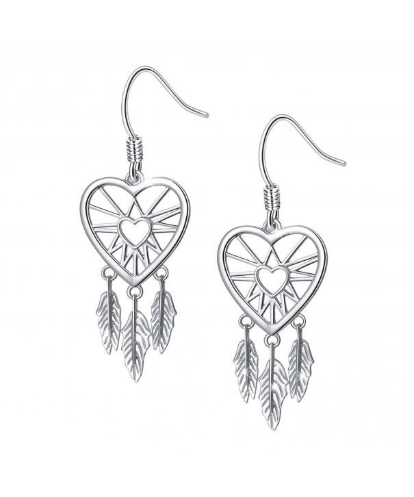 Sterling Catcher Feather Forever Earrings
