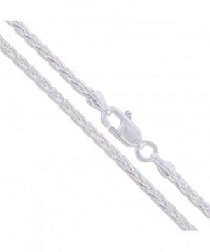 Sterling Silver Diamond Cut Unique Necklace