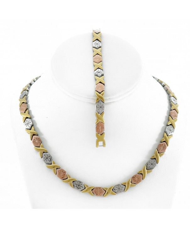 Womens XOXO Necklace Bracelet Starburst