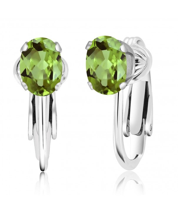 Green Peridot Sterling Silver Earrings