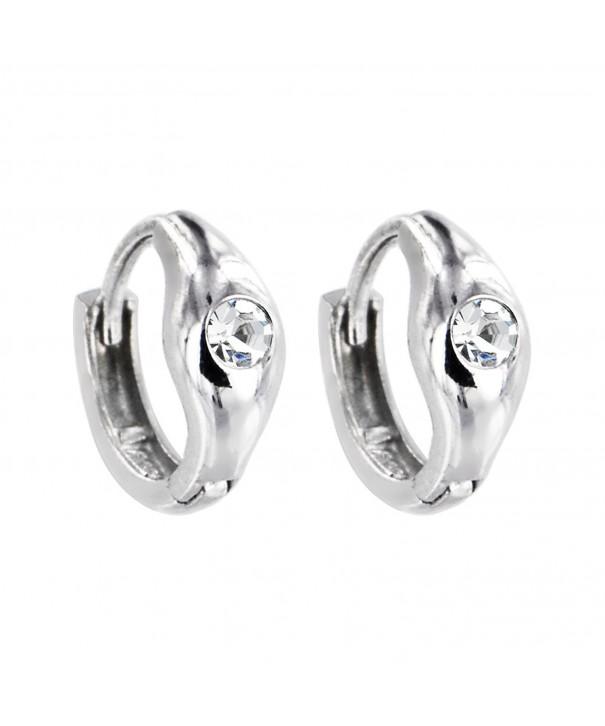 Sterling Silver Zirconia Sparkle Earrings