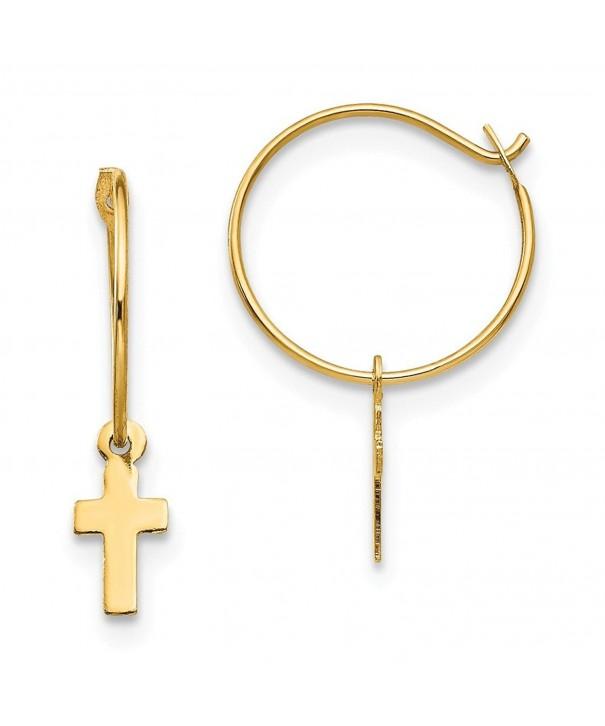 Madi Endless Small Cross Earrings