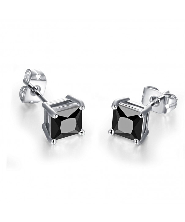 SELOVO Silver Color Earrings Princess Zirconia