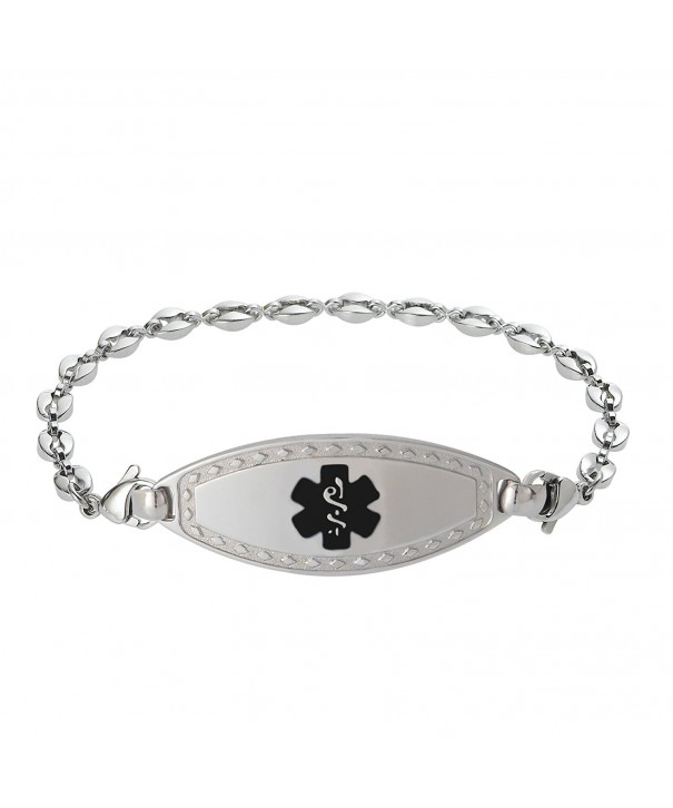Divoti Engraved Bracelet Stainless Black 7 0