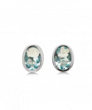 Blue Helenite Gaia Stone Earrings