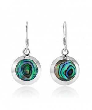 Sterling Silver Abalone Dangle Earrings