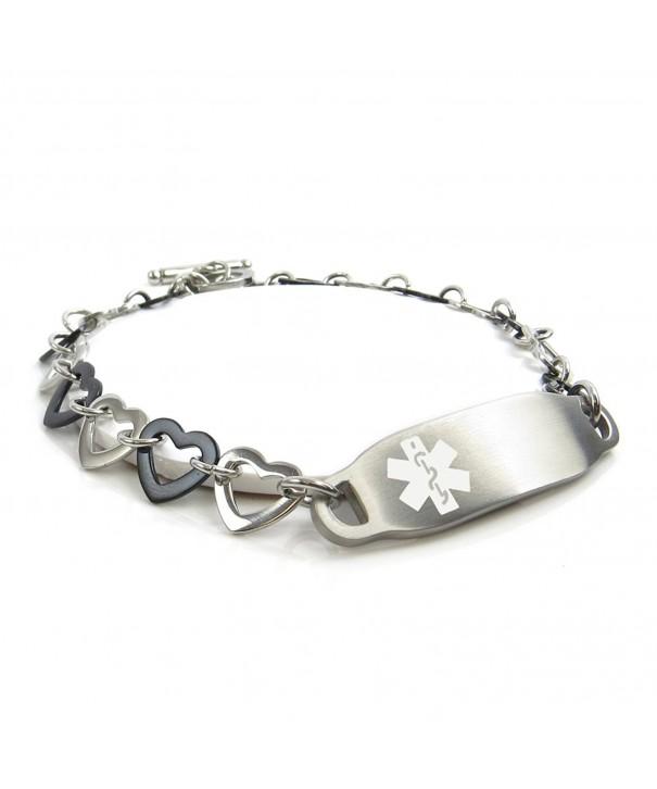 MyIDDr Pre Engraved Customizable Allergy Bracelet