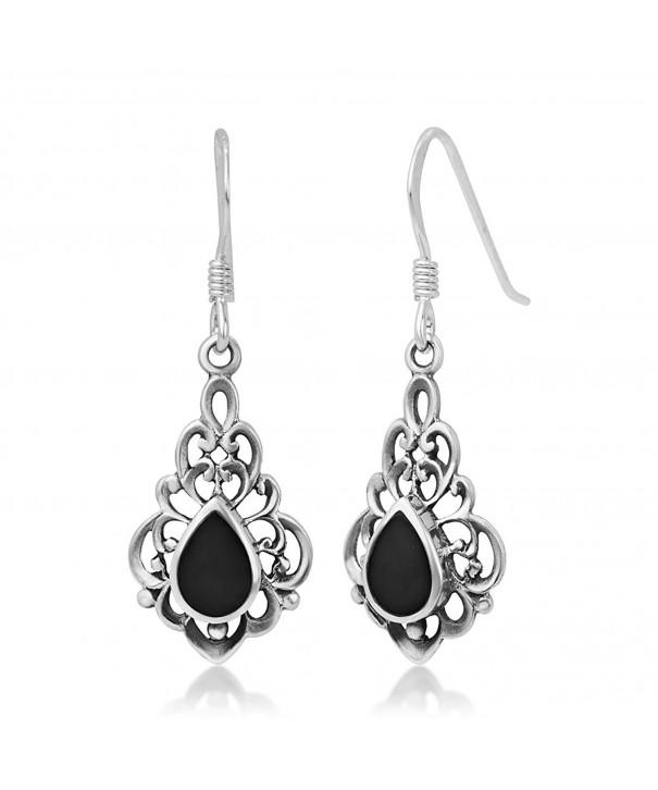 Sterling Inspired Gemstone Filigree Earrings