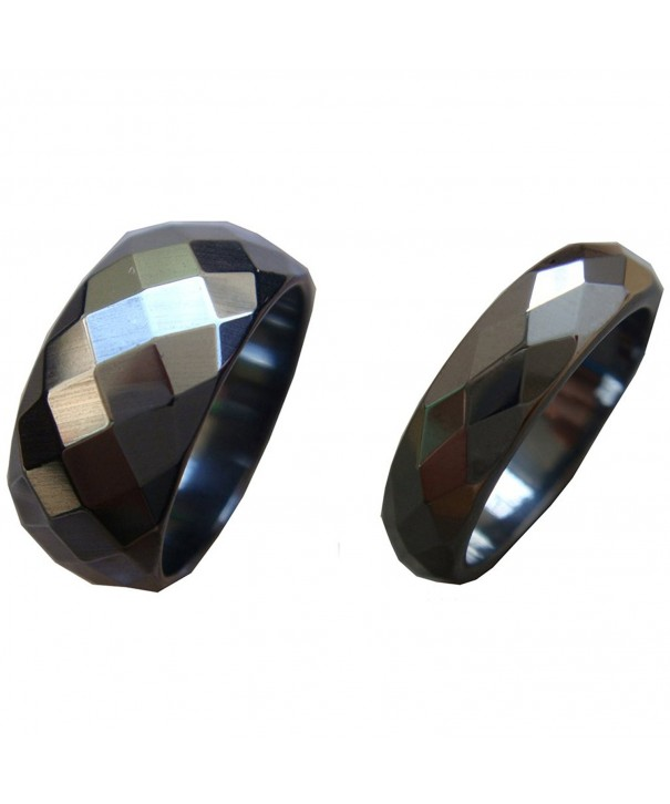 Natural Magnetic Faceted Hematite Finger