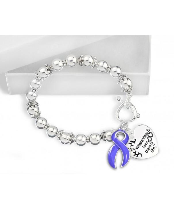 Esophageal Cancer Awareness Periwinkle Bracelet