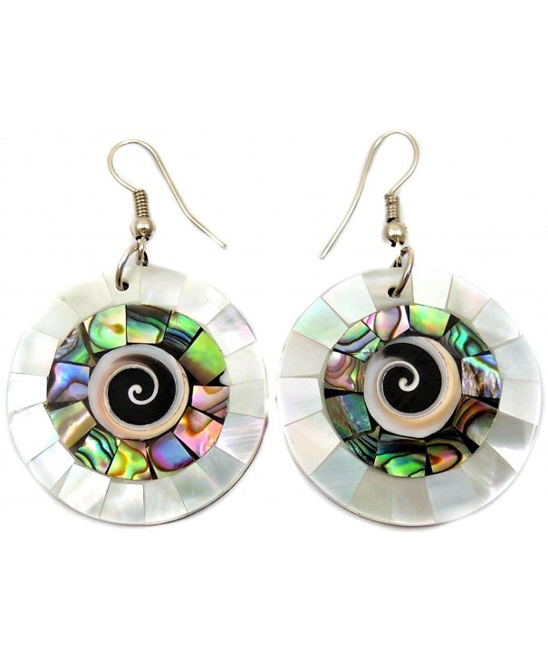Abalone Mother Dangle earrings CA285