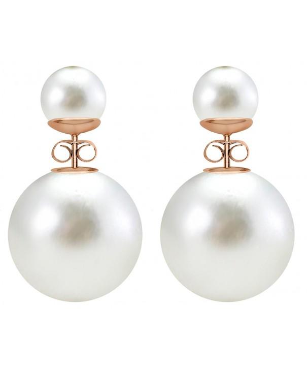 Double sided bead ball earrings
