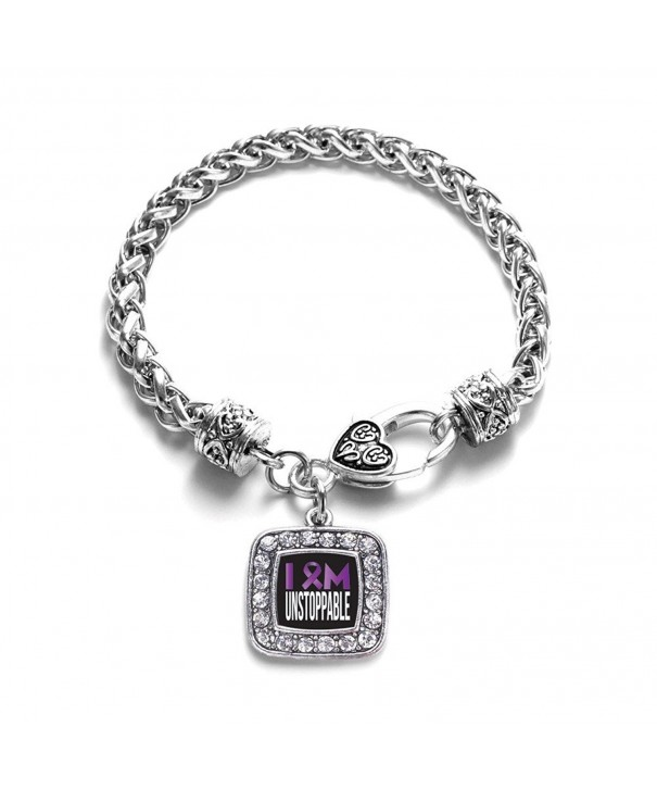 Awareness Unstoppable Support Crystal Bracelet