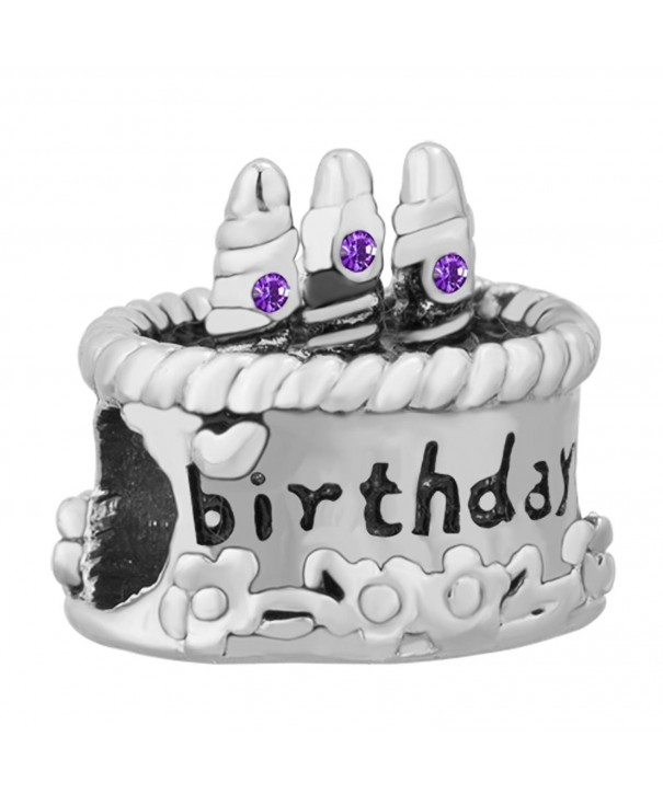 Happy Birthday Charms February Bracelet