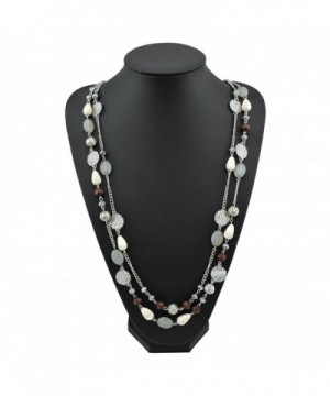 Crystal Acrylic Colorful Necklace 10084 grey