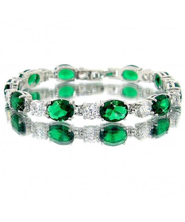 Emerald Color Silver Bracelet BC435